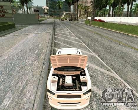 GTA 4 TBoGT de Buffalo para GTA San Andreas vista hacia atrás