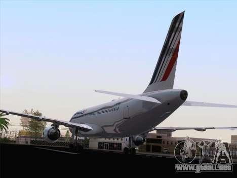 Airbus A320-211 Air France para GTA San Andreas vista hacia atrás