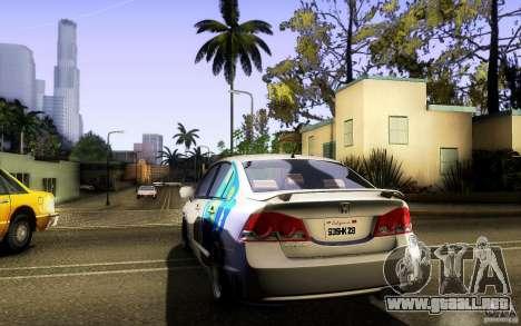 Honda Civic FD BlueKun para visión interna GTA San Andreas