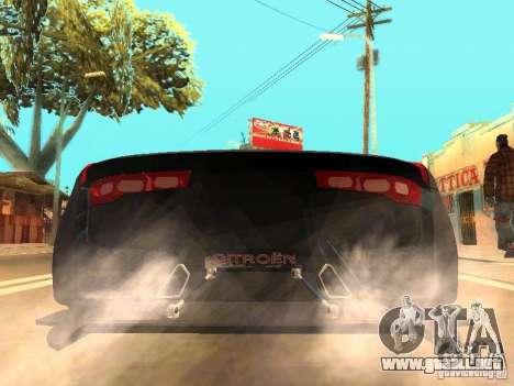 Citroen GT Gran Turismo para GTA San Andreas vista posterior izquierda