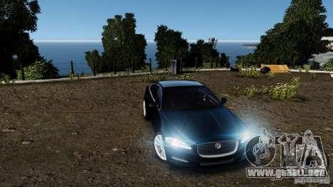 Jaguar XJ 2012 para GTA 4 vista desde abajo