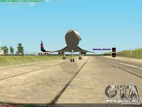 Concorde [FINAL VERSION] para GTA San Andreas vista hacia atrás