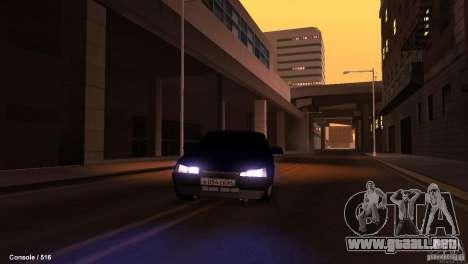 BAZ 21099 para la vista superior GTA San Andreas