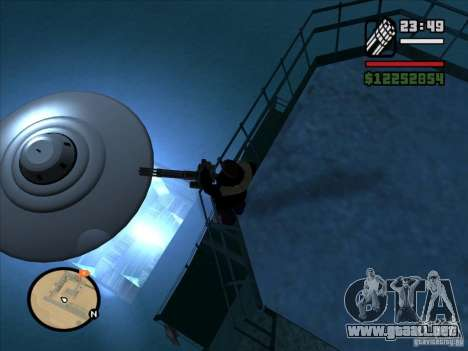 Misteriosos ovnis en el área 51 para GTA San Andreas segunda pantalla
