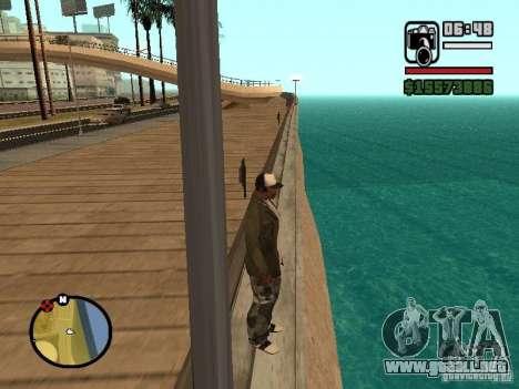 El agua de forma predeterminada para GTA San Andreas