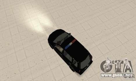 Volkswagen Touran 2006 Police para GTA San Andreas vista posterior izquierda