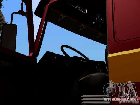 Scania 143M para GTA San Andreas vista hacia atrás