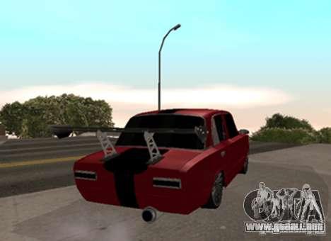 VAZ 2101 Drag para GTA San Andreas vista posterior izquierda