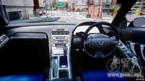 Honda NSX NA2 [Beta] para GTA 4 vista hacia atrás