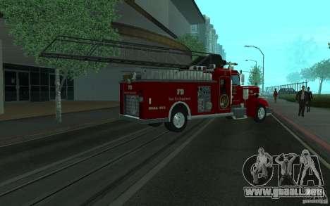 Peterbilt 379 Fire Truck ver.1.0 para visión interna GTA San Andreas
