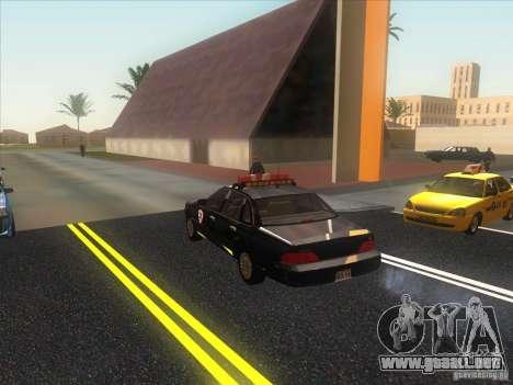Ford Crown Victoria 1992 Detroit OCP para GTA San Andreas vista posterior izquierda
