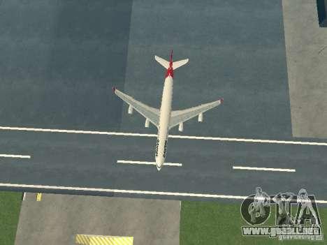 Airbus A340-300 Qantas Airlines para vista lateral GTA San Andreas