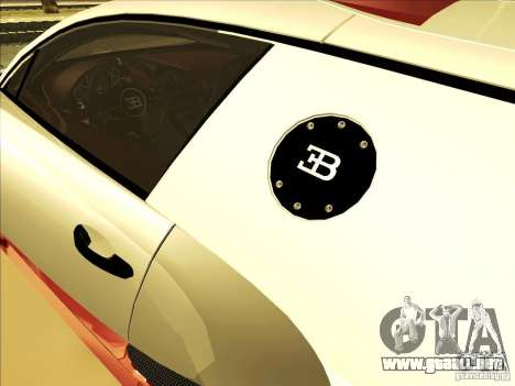 Bugatti Veyron para vista lateral GTA San Andreas