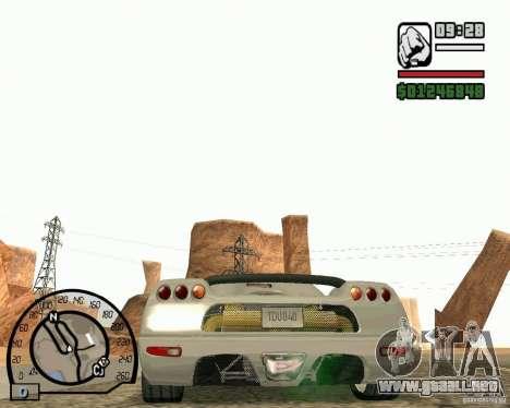 Koenigsegg CC8S para la visión correcta GTA San Andreas