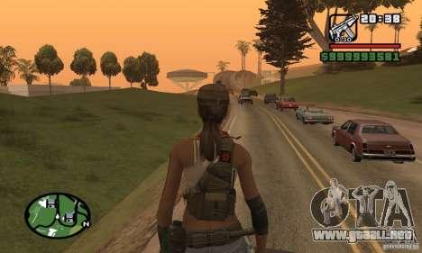 La nueva chica militar para GTA San Andreas sucesivamente de pantalla