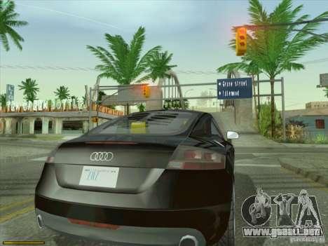 Audi TT Custom para GTA San Andreas vista posterior izquierda
