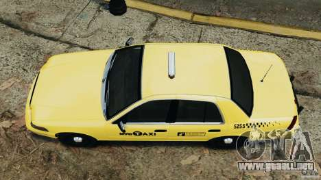 Ford Crown Victoria NYC Taxi 2004 para GTA 4 visión correcta