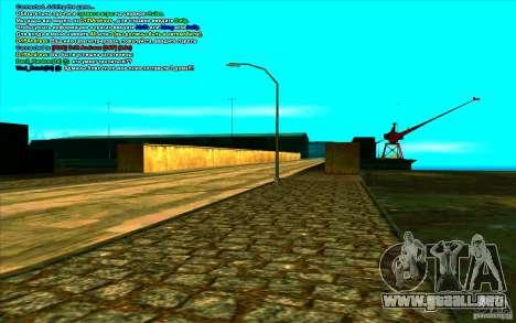Enbseries cualitativo 2 para GTA San Andreas sucesivamente de pantalla