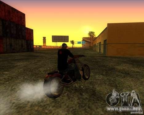 Hexer bike para GTA San Andreas vista hacia atrás