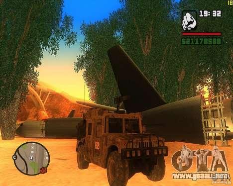 Hummer H1 de COD MW 2 para GTA San Andreas left