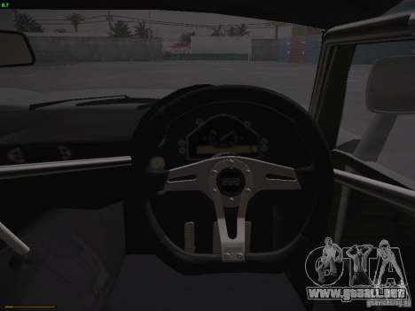 TVR Cerbera Speed 12 para GTA San Andreas interior