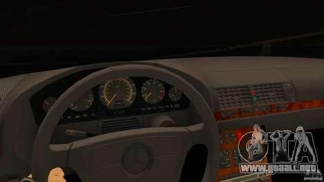 Mercedes-Benz 500SE para GTA San Andreas vista posterior izquierda