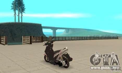 Honda Vario-Velg Racing para GTA San Andreas vista posterior izquierda