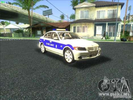 BMW 330i YPX para vista lateral GTA San Andreas