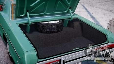Mercury Monterey 2DR 1972 para GTA 4 vista lateral