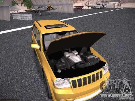 Jeep Grand Cherokee SRT8 para visión interna GTA San Andreas