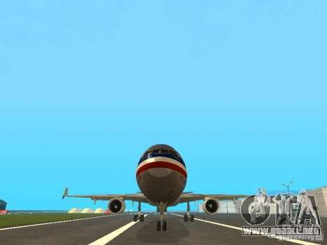 McDonell Douglas MD11 American Airlines para vista lateral GTA San Andreas