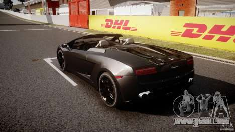 Lamborghini Gallardo LP560-4 Spyder 2009 para GTA 4 Vista posterior izquierda