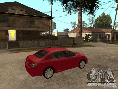 Toyota Corolla 2008 para la visión correcta GTA San Andreas