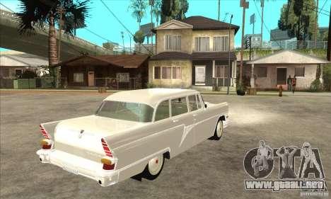 GAZ 13 Chaika v2.0 para GTA San Andreas vista hacia atrás