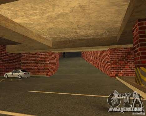 Policía de garaje nueva LSPD para GTA San Andreas segunda pantalla