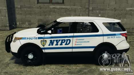 Ford Explorer NYPD ESU 2013 [ELS] para GTA 4 left