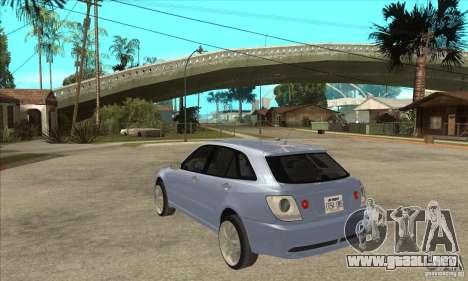 Toyota Alteza Wagon para GTA San Andreas vista posterior izquierda