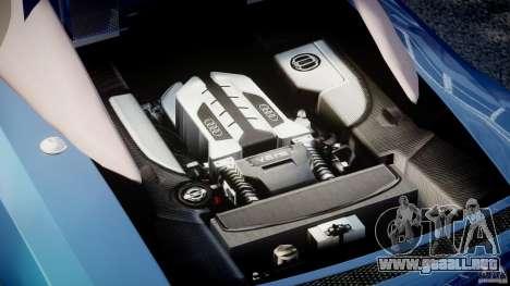 Audi R8 Spyder v2 2010 para GTA 4 visión correcta
