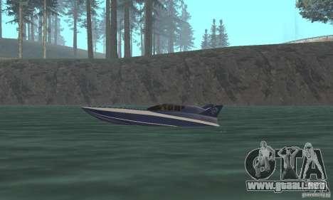 Powerboat para GTA San Andreas vista posterior izquierda