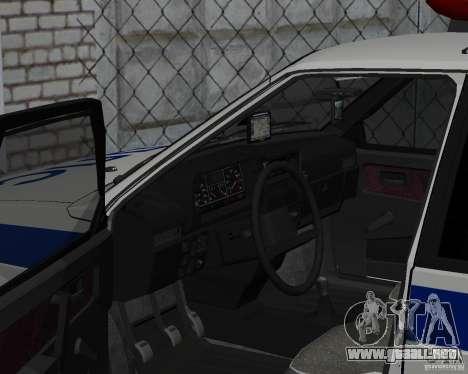 VAZ 2109 DPS para la visión correcta GTA San Andreas