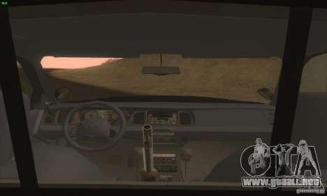 Ford Crown Victoria Idaho Police para la visión correcta GTA San Andreas