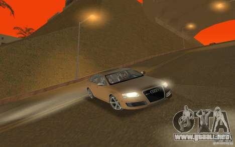 Audi RS6 TT Black Revel para GTA San Andreas vista hacia atrás