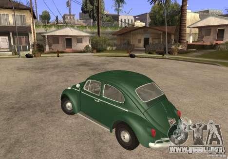 Volkswagen Beetle 1963 para GTA San Andreas left