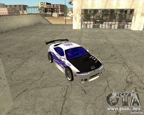Mitsubishi Eclipse street tuning para visión interna GTA San Andreas