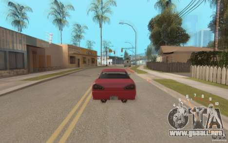 Digital speedometer and tachometer para GTA San Andreas tercera pantalla