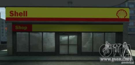 Shell Petrol Station V2 Updated para GTA 4 sexto de pantalla