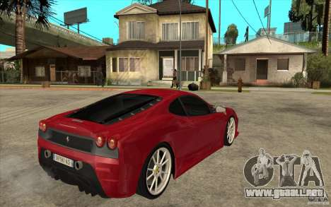Ferrari F430 Scuderia para la visión correcta GTA San Andreas