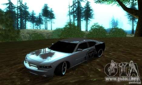 Dodge Charger SRT8 Mopar para GTA San Andreas vista hacia atrás
