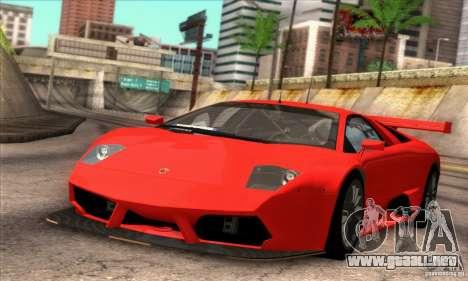 Lamborghini Murcielago R-SV GT1 para visión interna GTA San Andreas