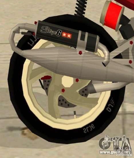 Gilera Runner 50SP Skin 5 para la visión correcta GTA San Andreas